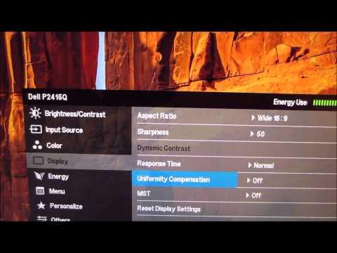 Dell P2415Q Menu System (OSD)