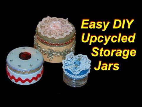 DIY Upcycled Storage Jars