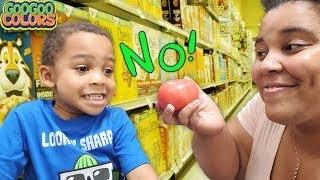 No Mom I Don't Like Tomatoes! (Gaga Baby Grocery Haul for Healthy Sandwich)