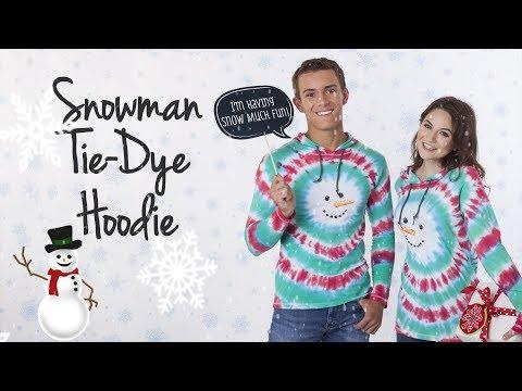 DIY Tie-Dye Snowman Hoodie