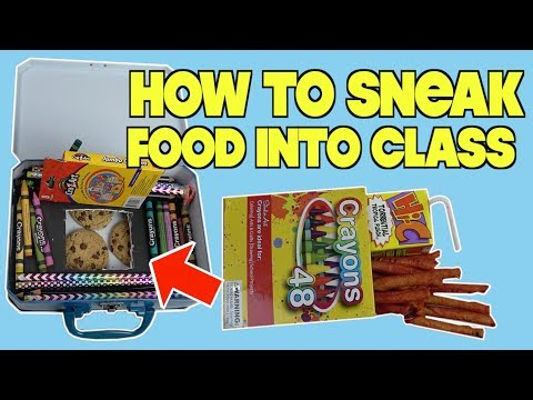 Clever Ways To Sneak Food and Candy Into Class Using School Supplies - SCHOOL LIFE HACKS