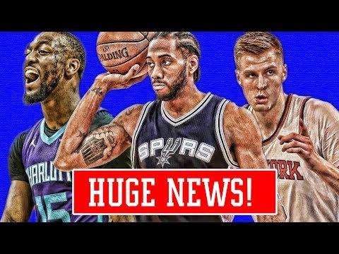 HUGE KAWHI UPDATE! KEMBA WALKER GETTING TRADED! PORZINGIS EXCITED! | NBA NEWS