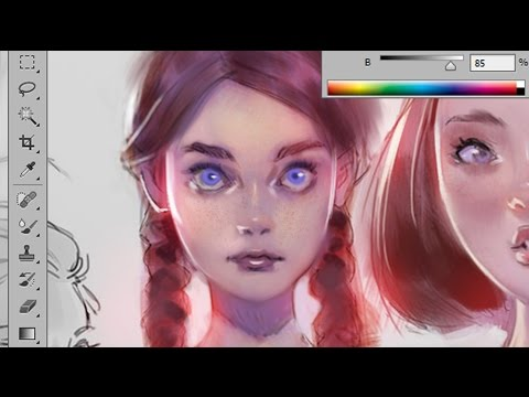 Coloring Tutorial - Purple Tint -