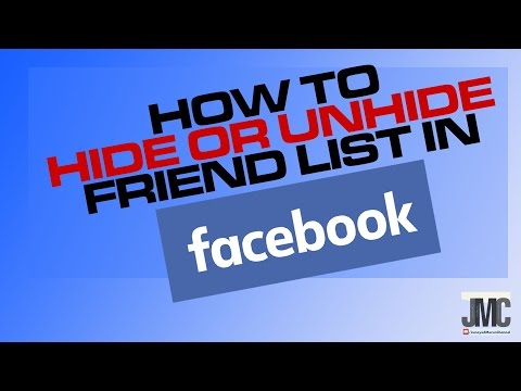 How To Hide/Unhide Your Facebook Friends List In Urdu/Hindi.