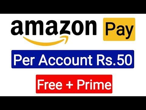 Amazon Pay Rs.50 Per Account Free + Prime Membership