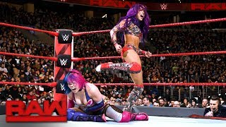 Asuka vs. Sasha Banks: Raw, Jan. 29, 2018