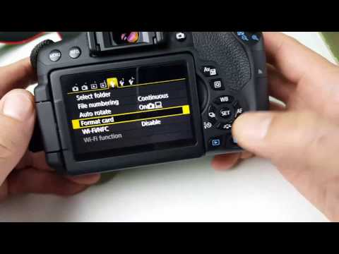 Canon T6i/T5i: How to Format/Erase SD Card