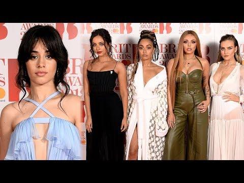 Camila Cabello, Little Mix & Dua Lipa SLAY 2018 BRIT Awards Red Carpet