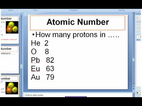 Atomic Theory - Atomic #, Mass #, & Chem Symbols