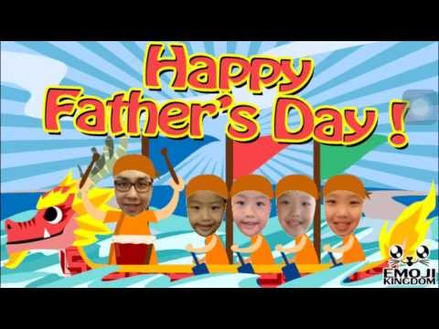 How to make personalised Father's Day video ecard easily free