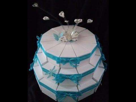 Wedding decorations.  Wedding cake favor gift box
