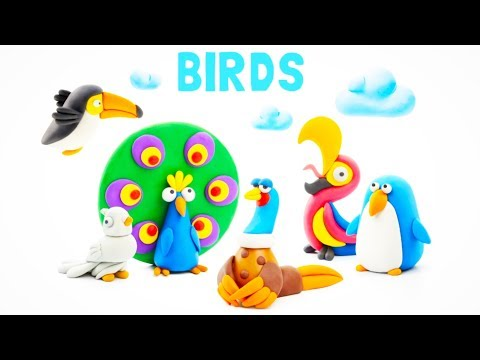 Kids Learn Colors and Numbers 123 with Hey Clay Birds – Play Doh Games