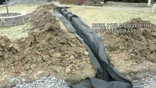 Diy How To Build A French Drain How To Drain Surface Water In Your Ya