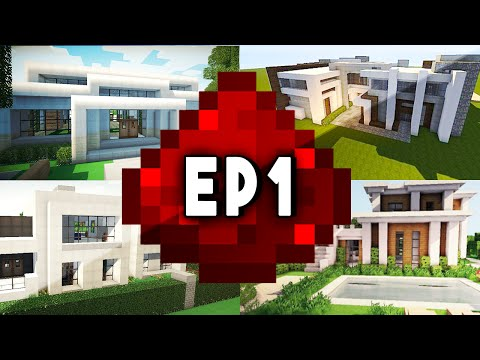 Let's Build: MODERN REDSTONE HOUSE EP 1 (Modern Design w/ Redstone Tutorials)