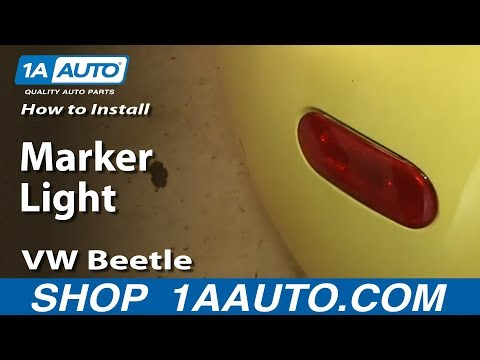 How To install Replace Rear Marker Light 1998-01 VW Beetle Bug