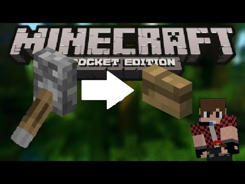 How to make a button like lever   Minecraft PE 0.14.0   Redstone tutorial
