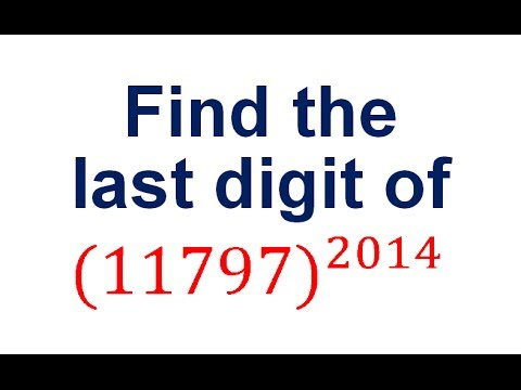 finding the last digit of a number