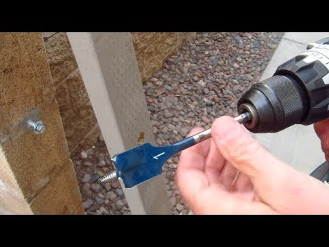 How to Use a Spade Bit