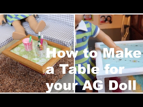 How to Make a Table for your American Girl Doll