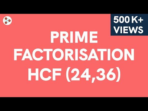 Prime Factorisation Method for finding the HCF Part 1