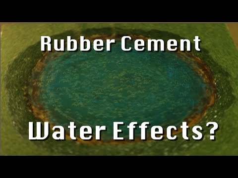 Research What? Rubber Cement Water Effects