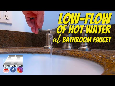Low-flow of hot water at bathroom faucet, Minnetonka Home Inspection