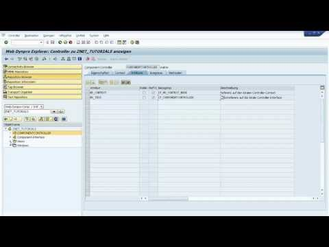 Build a Simple Web Dynpro ABAP Application, Navigation (PART 1)