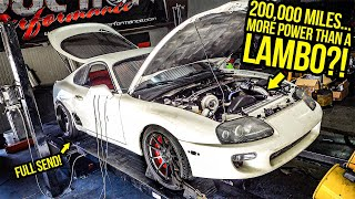 My Cheap 200,000 Mile Toyota Supra Makes MORE POWER Than A LAMBORGHINI (FULL SEND)