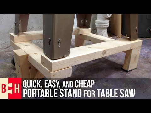 Quick, Easy, and Cheap Portable Stand for Table Saw