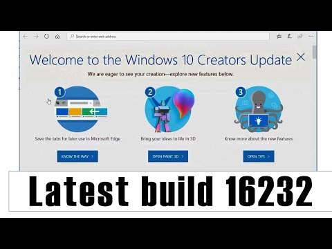 Windows 10 update build 16232 latest features.