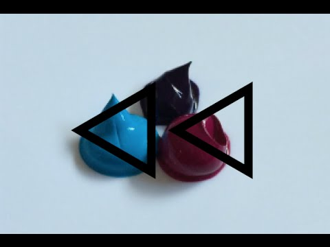 REVERSE Acrylic Paint Colour Mixing - #10 (ELECTRIC VIOLET)