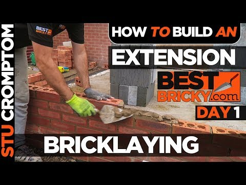 how to build a brick extension on a house - Day1