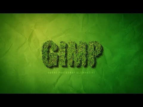 Grass Text Effect Tutorial in Gimp