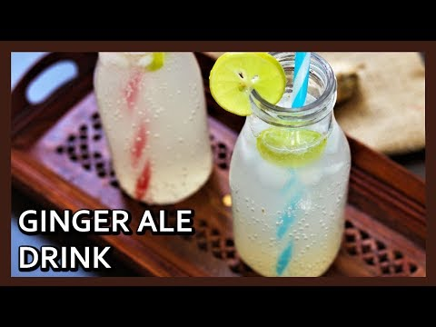 Homemade Ginger Ale Recipe | Ginger Ale Soda |  Healthy Kadai