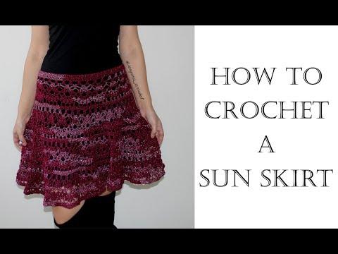 How To Crochet a Sun Skirt