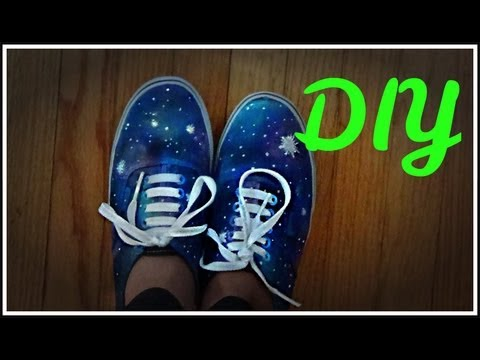 86bc2278a985 How to Make GALAXY SHOES! -HowToByJordan - Galaxy Shoes How To Make