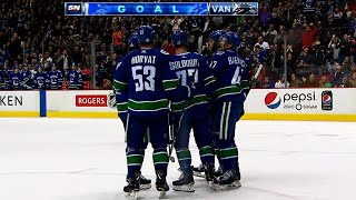 Canucks, Avalanche combine to score 7 goals in wild 2nd period
