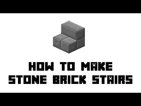 Minecraft Survival: How to Make Stone Brick Stairs