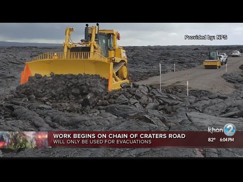 Work begins for evacuation route on Chain of Craters Road