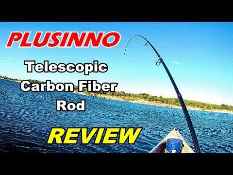 🐟  REVIEW: Plusinno Telescopic Carbon Fiber Fishing Rod.  Real World Testing!