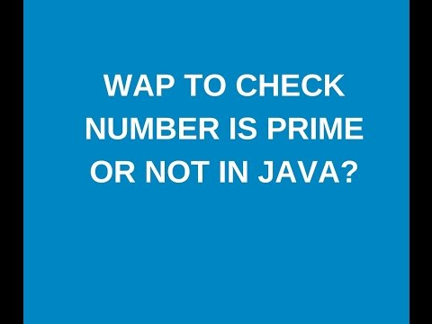 w.a.p  to check the input number is prime or not in java?