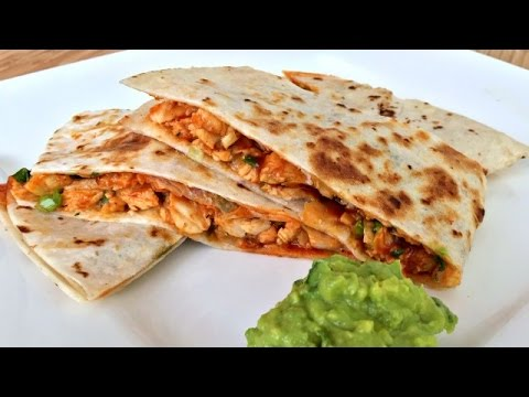 How to Make BBQ Chicken Quesadillas and Guacamole