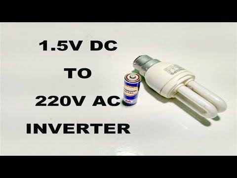 How to make AA (1.5V) Battery to 220V AC Inverter