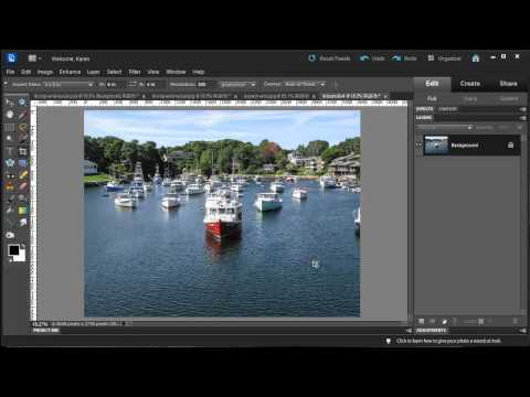 Photoshop Elements - Crop and Resize for Printing