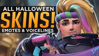 Overwatch: All NEW Halloween SKINS, Emotes & Voice Lines!