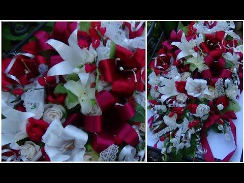 DIY Cascading Bouquet - Cheap | Preeti Petals