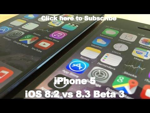 iOS 8.3 Beta 3 vs iOS 8.2 on iPhone 5