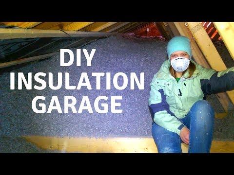Insulating Garage, DIY, Cellulose Attic and Walls