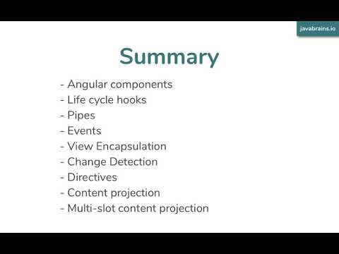 Angular Components In Depth 24 - Conclusion
