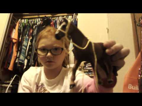 How to make a schleich horse bridle and halter